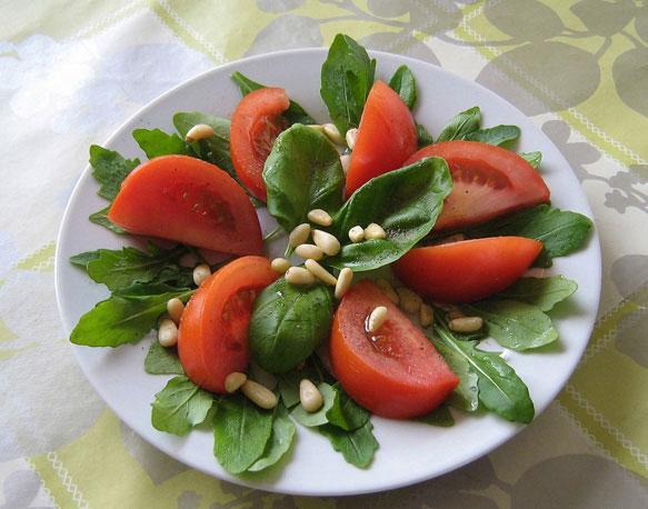 Салаты низкокалорийные с томатами
